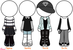 ~Outfits for jodie ocs by Nini-the-inkling
