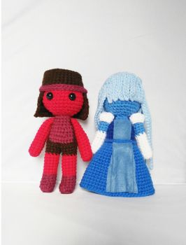 Ruby and Sapphire Amigurumi by milliemouse579