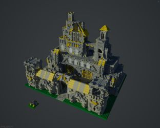 Yellow Castle by Falcon-RawByte