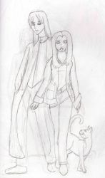WIP - Anime Version of Snape and Hazel by Glamourcat