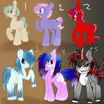 6 collab pony adopts OPEN!! by MuffyandNinjaKitty