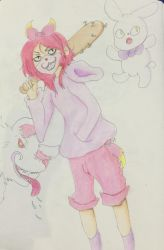 Troublemaking youngster by Riia-the-kuma