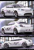 3 view of the new Hyundai 2007 by GlaciusCreations