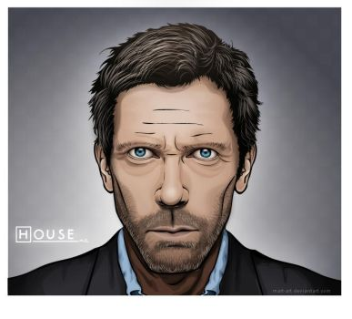 vector-art: house m.d. by mart-art