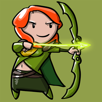 Dota Fanart v2 - Windranger by KidneyShake