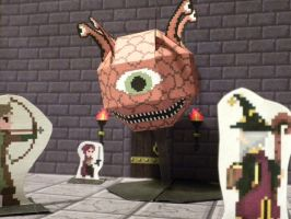 Pixel Dungeon 3D monster preview: Floating Watcher by Zombie-Kawakami