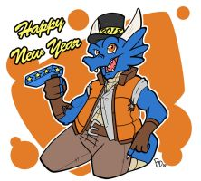 New year 2018 by The-BlueDragoon