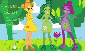 Carioca Sisters in Equestria Girls by sitang15