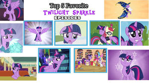 My Top 5 Favorite Twilight Sparkle Episodes by rainbine94