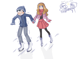 AmourShipping: ice skating. by SophieLaurel1