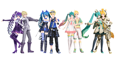 [MMD+Download] PDX Medleys by 01mikuxlen02