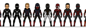 Spider-Men Redesign by Melciah1791