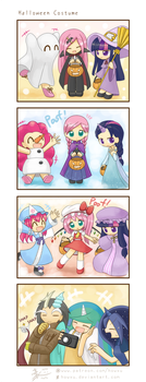 My little Kindergarten 4koma 5 Halloween Costume by HowXu