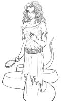 Lamia Sketch Revision and Info by Morphicelus
