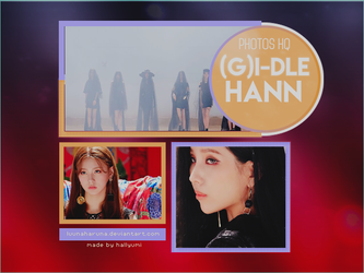 [PHTOTPACK] (G)i-DLE HANN PHOTOTEASERS + BTS by LuunaHaruna