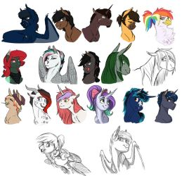 MLP Commission Dump 3- 2016 by Earthsong9405
