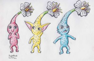 Pikmin  Red Yellow and Blue by PaintingTree
