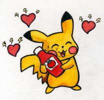 Pikachu love Ketchup by Cattype