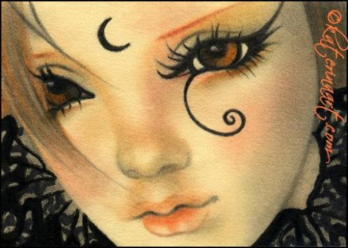 ACEO GIVEAWAY - Gothic Witch by Katerina-Art