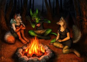 Creeps By The Campfire by Nimrais