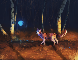 Follow the blue light - commission by Yessys
