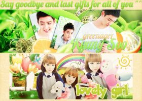 Say goodbye and last gifts to all of you! by shiningday