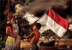 INDONESIA FLAG by oddby