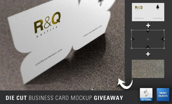 Die Cut Business Card Mockup Giveaway by artbees