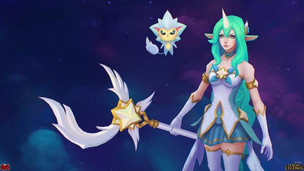 Star Guardian Soraka Close Up by YBourykina