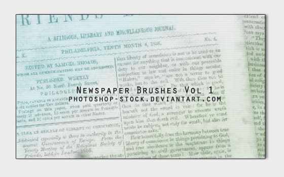 Newspaper Brushes Vol1 by photoshop-stock