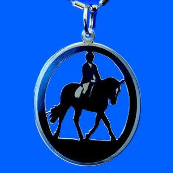 Silver Nitika Dressage Horse by DragonsFlyDesigns