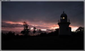 Lighthouse Sunset by JohnK222