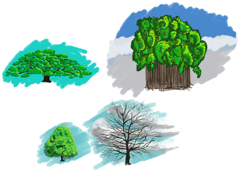 Tuesday evening practice #1 : trees by Lululaouff