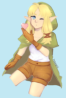 Loz -- Linkle + [SPEEDPAINT] by houtani