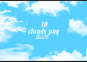 10 Clouds PNG by ysanova