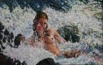 Oil_Canvas 60' w x 38' h by FireBoar
