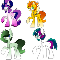 Closed Pony Adopts by SpaazleDazzle