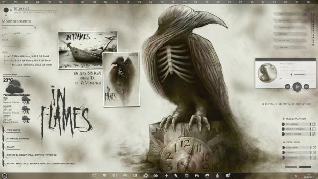 In Flames Rainmeter Desktop by paulogracioli666