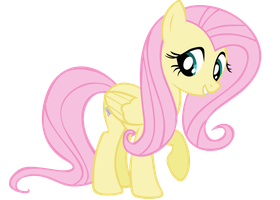 Fluttershy Vector - Oh Hai... by Anxet