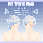 Icy White Hair [ Commission + DL ] by PeachMilk3D