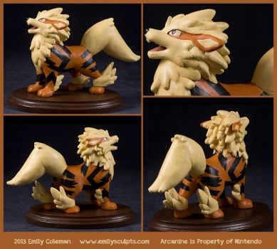 Commission : Arcanine Calls by emilySculpts