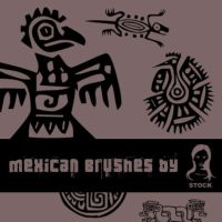 Mexican brushes by SiLv3rDu5t-stock