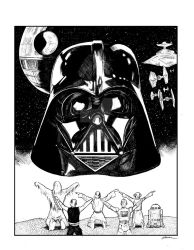 Kneel before Vader! by GregWoronchak