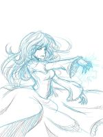 Ice Queen sketch by asdfzxc321