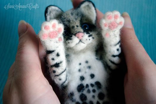 Needle felted ocelot for S. by SaniAmaniCrafts