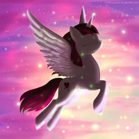 Its-Hannah3Tears - Glitter-Violet Sky (AT) by fluffycawwot