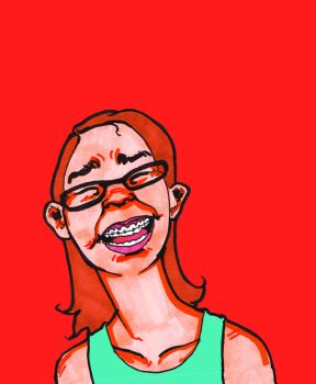 Girl with Braces by richunkleskeletun