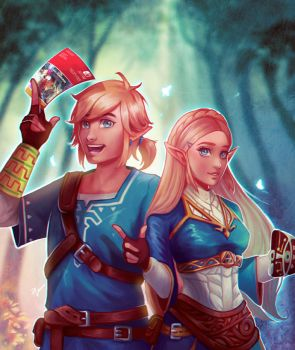 Link and Zelda - Breath of the Wild by PetraImboden