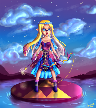 Princess Zelda Inkling by Zephrine