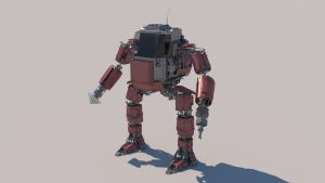 Heavy Mining Unit Mark 1 with textures by MMitov